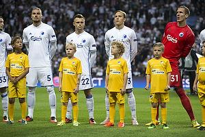 Erik Johansson (FC K�benhavn), Peter Ankersen (FC K�benhavn), Ludwig Augustinsson (FC K�benhavn), Robin Olsen (FC K�benhavn)