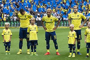 Kamil Wilczek (Br�ndby IF), Hany Mukhtar (Br�ndby IF), Teemu Pukki (Br�ndby IF)