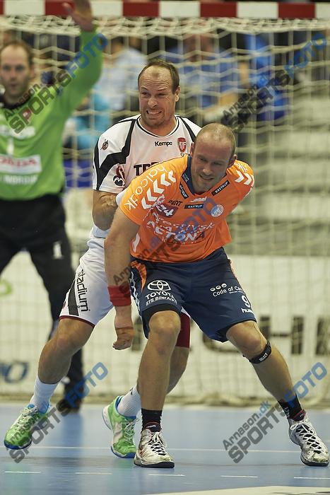 Lars J�rgensen (KIF Kolding K�benhavn), S�ren Tau (Team Tvis Holstebro)