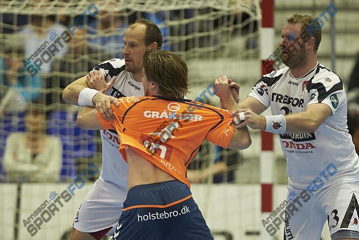 Patrick Wiesmach (Team Tvis Holstebro), Lars J�rgensen (KIF Kolding K�benhavn), Joachim Boldsen (KIF Kolding K�benhavn)